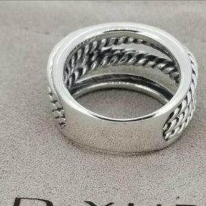 David Yurman Jewelry - David Yurman Silver Crossover Narrow Ring